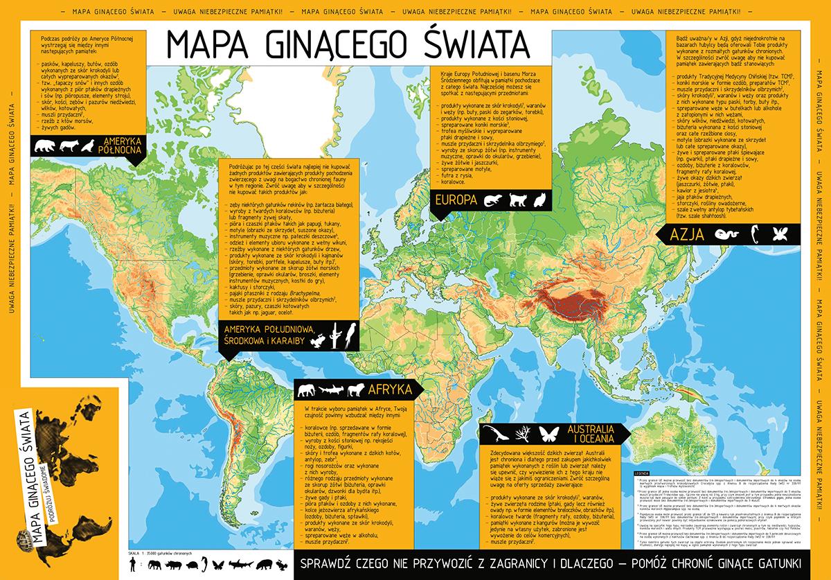 Mapa ginącego świata
