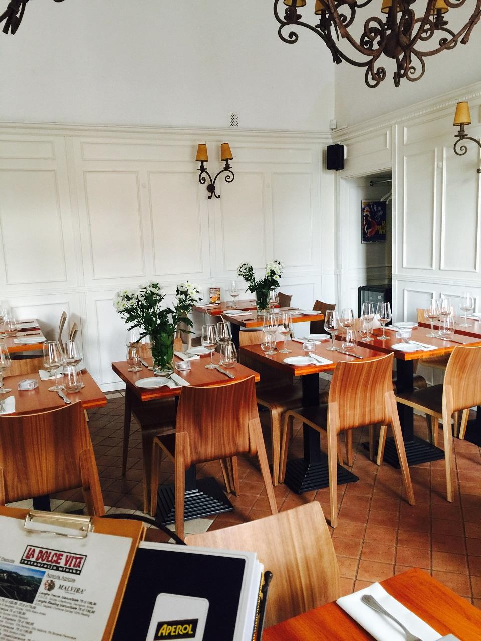 Wnętrze restauracji La Dolce Vita